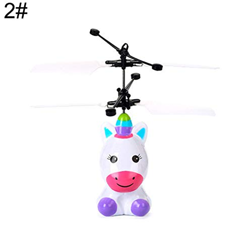 YX-TOYS Yxczhis Kinderkinder-Intelligenz-Zug-Induktions-Drohne Toy Robot Pony Flying Helicopter