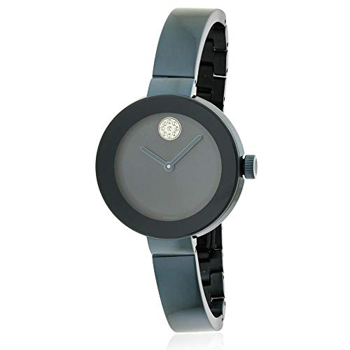 MOVADO WOMEN'S BOLD 35MM BLUE STEEL BRACELET & CASE SWISS QUARTZ WATCH 3600425