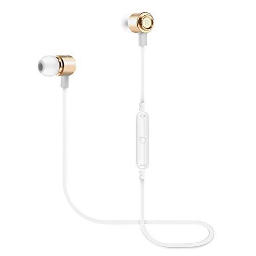 WERNG Bluetooth-KopfhöRer Magnet Sport-Bluetooth-In-Ear-KopfhöRer Drahtlose OhrhöRer,Gold