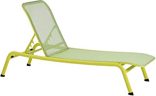 AP Auple Sonnenliege, Gartenliege in Rattan-Optik, Matratze abnehmbar, komfortabel, bis 150 kg belastbar@Grün -
