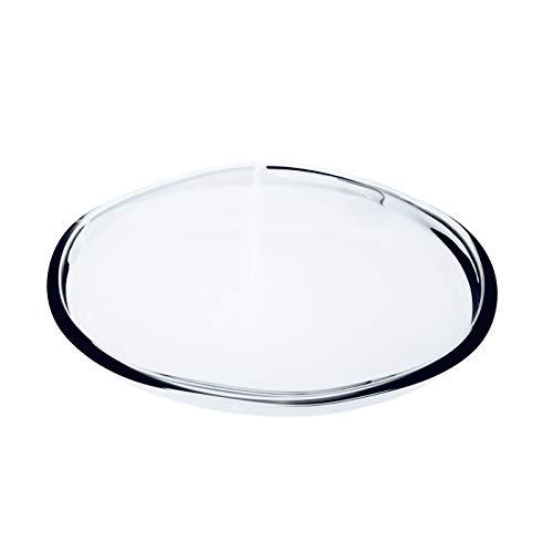 INNA Glas - Assiette / Coupe en verre BORNA, transparent, 3,5 cm, Ø 36 cm - Coupelle décorative / Coupelle apéritif