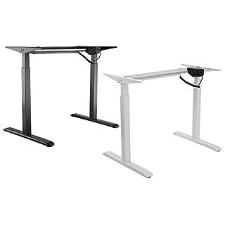 Allcam ACEDF01S Electric Standing Desk Frame/Sit-stand Workstation in Black (frame only), Height Adjustable 73-123cm
