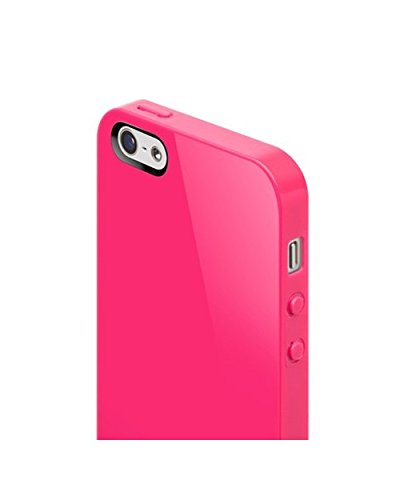 Nude Hardcover Schutzhülle für Apple iPhone 5 Ultraschwarz Fuchsia