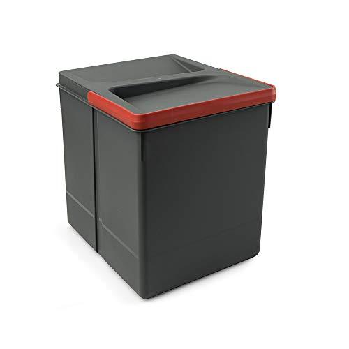 EMUCA Basura, Cubos Reciclaje Base Recortable, contenedor