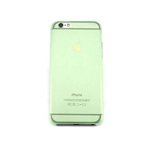 handypelle® Schutzhülle für Apple iPhone 6 / 6s im Frost-Look in Schwarz Grün