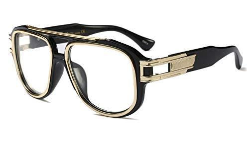 GFF Übergroße quadratische Sonnenbrille Männer Frauen Metall dicken Rahmen Marke Brille Designer Mode männlich weiblich 45449