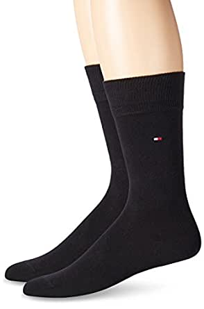 bonprix Men's TH MEN SOCK CLASSIC 2P Classic Calf Socks - black - 5-8