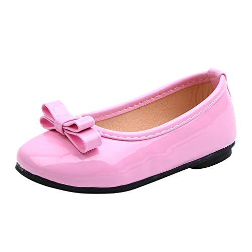 CixNy 1-12 Jahre Tanzschuhe Kleinkind Sommer Mädchen Kinderschuhe Schuhe Versteckter Schuhriemen Einfarbig Einzelne Schuhe Weich Unterseite Klettband Lederschuhe Mädchen Prinzessin Shoes ()