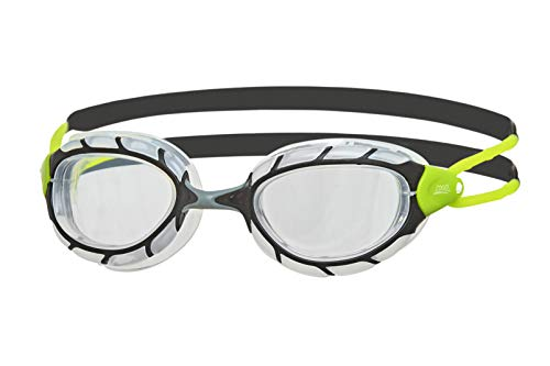 Zoggs  – Erwachsene Predator Schwimmbrille Black/Lime/Clear One Size
