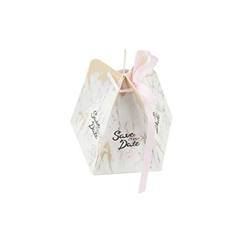 Billty 50 Stück Geschenkboxen Hochzeit Geschenkbox Gastgeschenk Kartonage klein Süßigkeiten Kartons Tischdeko Favous Box für Hochzeit Party Feier