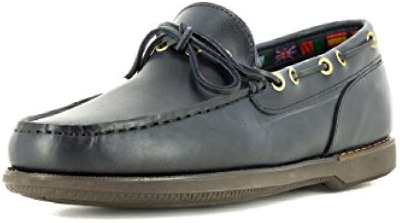 Seaside Zapato Náutico para Hombre Color Azul, 45 EU