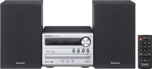 Panasonic Micro HiFi SC-PM250EG-S (20 Watt RMS, CD,UKW, Bluetooth) silber