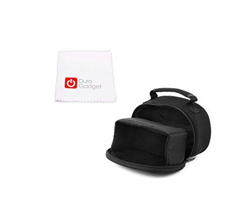 Schwarze Tasche Hülle mit Innentasche und Handgriff plus Pflegetuch für CAMPARK ACT68 | ACT58 | ACT60 | ACT70 | ACT73R | ACT74 | ACT75 | ACT76 | ACT85 | 4K 12MP | 4k WiFi Ultra HD Action Kameras