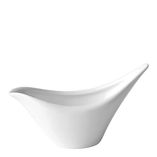 Utopia Anton Noir en porcelaine fine Z06014-000000-b01006 Swift Saucière, 15,2 cm (lot de 6)