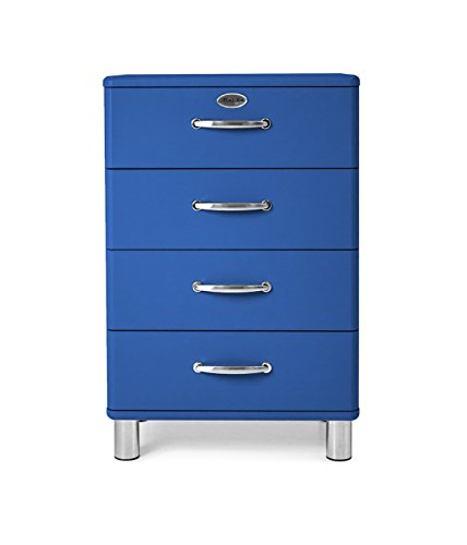 Tenzo 5116-003 Malibu Designer Kommode Holz, blau, 41 x 60 x 92 cm