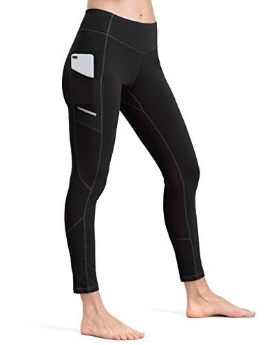 ALONG FIT Leggings Damen mit Taschen, Nicht durchsichtig Sporthose Damen Dehnbar Yogahosen für Damen Dri-fit-capri-hosen