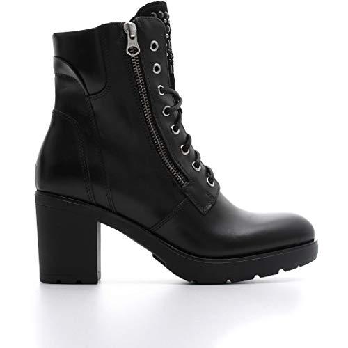 Nero giardini donna tronchetto a807065d nero scarpe in pelle. autunno inverno 2019 eu 37