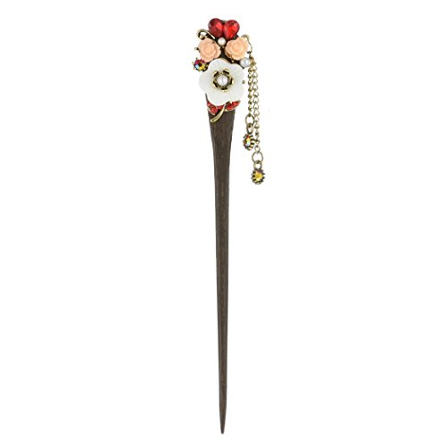 Fajewellery-Hair jewellery Mode Vintage Gravierte Blume Holz Quaste Haar Stick Zubehör Haarnadel für Frauen