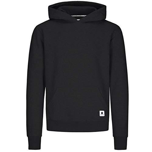 urban ace | Hoodie, Pullover | Herren, Unisex | für Fitness und Freizeit | grau oder schwarz | weich, mit hochwertiger Verarbeitung | S, M oder L (schwarz, S) Schwarz Unisex Pullover