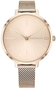 Tommy Hilfiger Women'S Carnation Gold Dial Ionic Plated Carnation Gold Steel Watch - 178