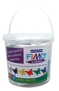 Fimo-pains De Pâte À Modeler Fimo Air Light, 125g Couleurs Assorties - Sachet De 6