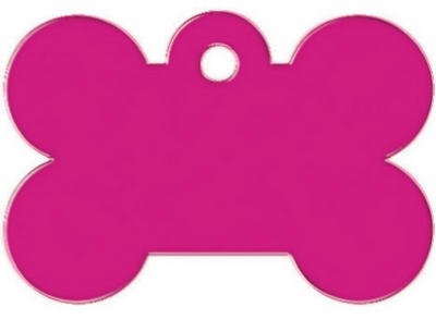 Kaba Ilco tag-bone-4l Knochen Pet Tag, groß, pink - Bone Trim Kit