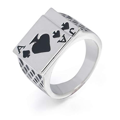 SEVENHOPE Sieben Herren Ring Mode Spaten Ein herzförmigen Poker Ring (Größe 8) (Mode-ringe Größe 8)