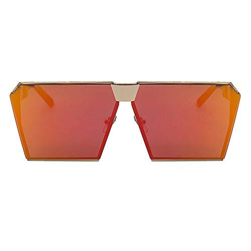Szblk Harz Sonnenbrille männer und Frauen Sonnenbrille Anti-uv Outdoor Sonnenbrille Angeln Sonnenbrille Mode Sonnenbrille Vintage persönlichkeit wild Square gläser (Color : Red)