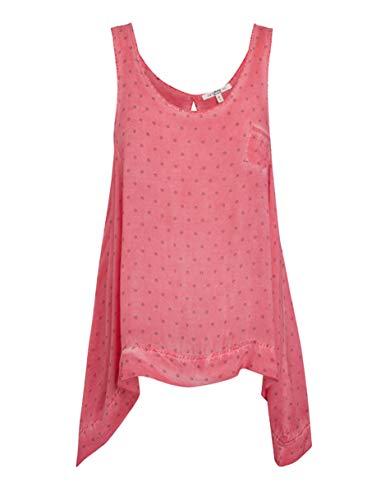 Jockey Damen Unterhemd Modal Basic-Shirt Gepunktet, Größe: L, Farbe: Rosa -