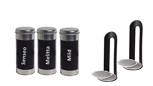Vorratsdosen Kaffeepaddosen mit Kaffeemotiven 3 Stück + Pad heber