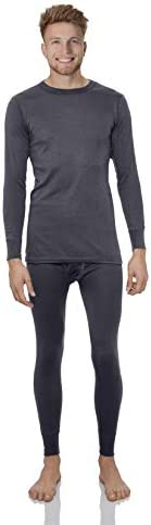 Rocky Thermal Underwear for Men Top & Bottom Set Long John Ultra Soft Smooth