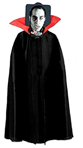 EVRYLON Mantello Vampiro Uomo Halloween Mantello Vampiro Ragazzo Demone Nobile Dracula Giochi e Accessori per Carnevale Cosplay per Travestimenti e Costumi Taglia Unica