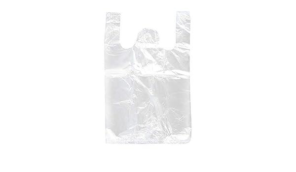 HeiHy 100 St/ück Klar Plastikt/üte mit Henkeln Traget/üte Tragetaschen Einkaufst/üten Hemdchentragetasche S