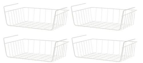 kamelshopping 4-er Set Metall Schrank-Korb | Aufbewahrungskorb zum Einhängen | perfekt für Kleiderschränke, Regale, Büro-Schränke -