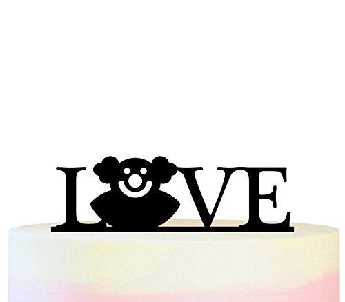 Innovedesire Love Bozo Circus Kuchenaufsätze Hochzeit Geburtsta Acryl Dekor Cupcake Kuchen Topper Stand für Kuchen Party Dekoration 11 Stück
