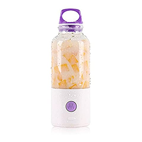 lzndeal Presse-agrumes électrique 700ml Bouteille de charge USB légumes fruits Mixer Coupe jus de pomme carotte orange bouteilles Maker