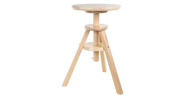 Ikea svenerik sgabello girevole in legno massiccio; altezza