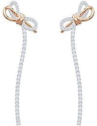 Swarovski Boucles d'oreilles Lifelong Bow, blanc, combinaison de métaux plaqués