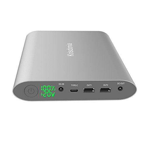 Krisdonia 50000 mAh Tragbares Ladegerät Schnelles Aufladen Laptop Power Bank mit 4 Ports (DC Port + der U89 Port + Dual USB) für MacBook, Laptop, Smartphone and Tablet