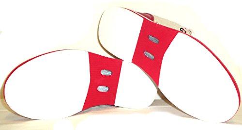 3G Kicks Scarpe da bowling, unisex, per destrimani e mancini, disponibili in 4colori, misura 36-48 bianco - rosa