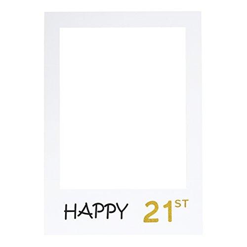 21st DIY Papier Bilderrahmen Ausschnitte Photo Booth Props für Geburtstagsfeier ()