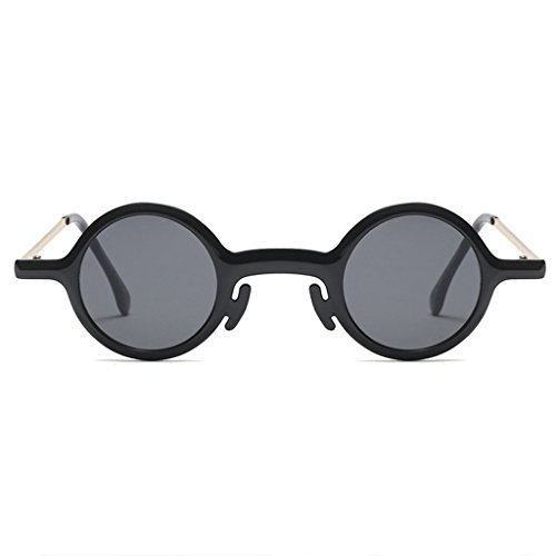 ZLHL Klassische Runde Sonnenbrille für Frauen UV400 Schutz Sonnenbrille, Vintage Circle Frame Federscharnier (Farbe : Black)