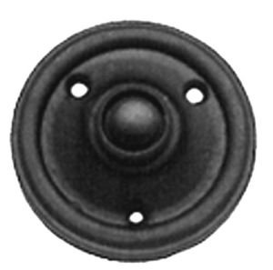 Georgian Round Door Bell Switch in Black Cast Iron (AB492) by OriginalForgery