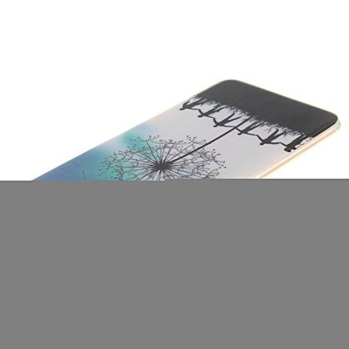 Ooboom® iPhone 5SE Hülle TPU Silikon Gel Ultra Dünn Schutzhülle Handy Tasche Case Cover für iPhone 5SE - Löwe Schwarz Löwenzahn