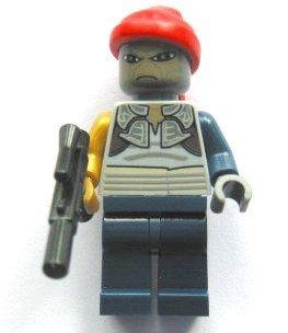 Figur aus LEGO Teilen: Shahan Alama Weequay Pirat mit Blaster