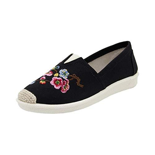 Scarpe moda da donna,hot sale║sonnena scarpe di tela piatte di grandi dimensioni con fiori etnici scarpe di tela piatte ricamate stile etnico delle donne di modo nation style shoes