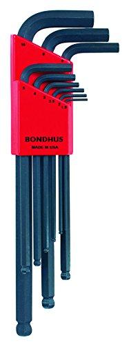 Bondhus 10999 Llaves Macho acodadas, Amarillo, Set de 9 Piezas