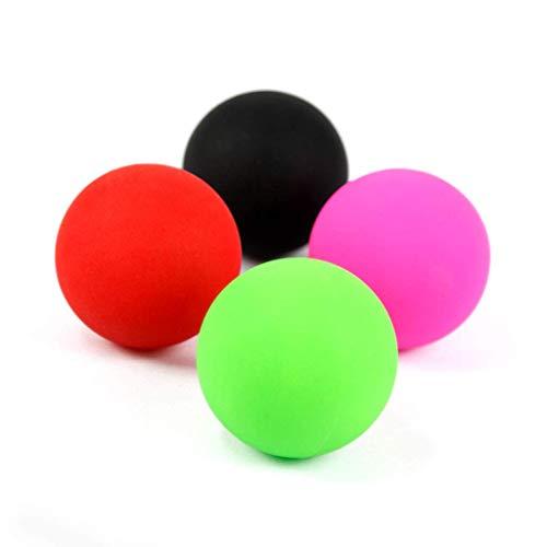 Yoga Fitness Bal, l Fußmassageball, Fitness Faszien Erdnuss Einzelball Tiefe Muskelentspannung Faszienfreisetzung Akupressurball (Sabre Red-home)