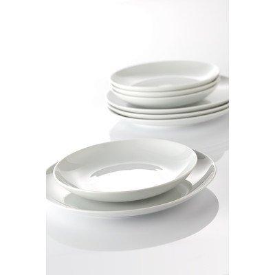 Arzberg Cucina-Basic ROK Weiss Speiseset 12-TLG, Porzellan, White, 29.1 x 21.7 x 32.2 cm