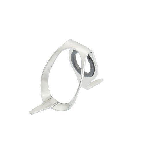 sourcingmap® Edelstahl Ring-Angelrute Pole Eye Guide Spitze#20